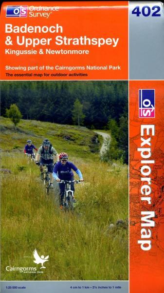 EXP-402  Badenoch, Upper Strathspey | wandelkaart 1:25.000 9780319239360  Ordnance Survey Explorer Maps 1:25t.  Wandelkaarten de Schotse Hooglanden (ten noorden van Glasgow / Edinburgh)