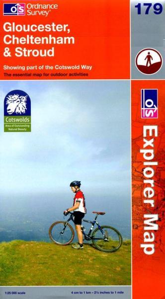 EXP-179 Gloucester, Cheltenham + Stroud | wandelkaart 1:25.000 9780319240458  Ordnance Survey Explorer Maps 1:25t.  Wandelkaarten Midlands, Cotswolds, Oxford