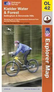 EXP-042  Kielder Water  OL42 | wandelkaart 1:25.000 9780319240885  Ordnance Survey Explorer Maps 1:25t.  Wandelkaarten Northumberland, Yorkshire Dales & Moors, Peak District, Isle of Man