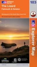 EXP-103  The Lizard | wandelkaart 1:25.000 9780319241172  Ordnance Survey Explorer Maps 1:25t.  Wandelkaarten Zuidwest-Engeland, Cornwall, Devon, Somerset, Dorset