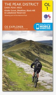 EXP-001  The Peak District - Dark Peak Area | wandelkaart 1:25.000 9780319242407  Ordnance Survey Explorer Maps 1:25t.  Wandelkaarten Northumberland, Yorkshire Dales & Moors, Peak District, Isle of Man