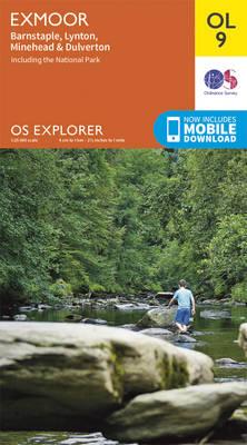EXP-009  Exmoor  OL9 | wandelkaart 1:25.000 9780319242483  Ordnance Survey Explorer Maps 1:25t.  Wandelkaarten Cornwall, Devon, Somerset, Dorset