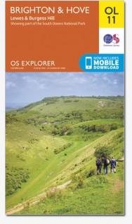 EXP-011 Brighton  Explorer Map | wandelkaart 1:25.000 9780319242506  Ordnance Survey Explorer Maps 1:25t.  Wandelkaarten Kent, Sussex, Isle of Wight