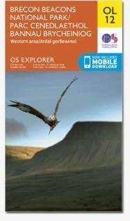 EXP-012   Brecon Beacons / Western [OL12] | wandelkaart 1:25.000 9780319242513  Ordnance Survey Explorer Maps 1:25t.  Wandelkaarten Zuid-Wales, Pembrokeshire, Brecon Beacons