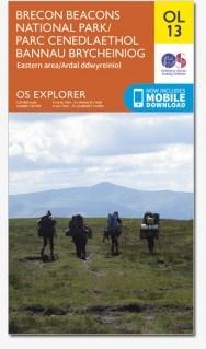 EXP-013   Brecon Beacons / Eastern [OL13] | wandelkaart 1:25.000 9780319242520  Ordnance Survey Explorer Maps 1:25t.  Wandelkaarten Zuid-Wales, Pembrokeshire, Brecon Beacons