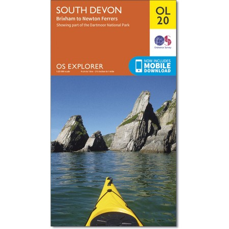EXP-020  South Devon (OL20) | wandelkaart 1:25.000 9780319242599  Ordnance Survey Explorer Maps 1:25t.  Wandelkaarten Cornwall, Devon, Somerset, Dorset