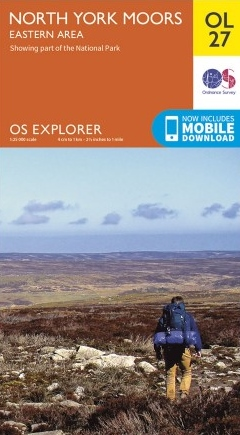 EXP-027 North York Moors - Eastern area  OL27 | wandelkaart 1:25.000 9780319242667  Ordnance Survey Explorer Maps 1:25t.  Wandelkaarten Northumberland, Yorkshire Dales & Moors, Peak District, Isle of Man