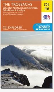 EXP-046  The Trossachs OL46 | wandelkaart 1:25.000 9780319242858  Ordnance Survey Explorer Maps 1:25t.  Wandelkaarten de Schotse Hooglanden (ten noorden van Glasgow / Edinburgh)