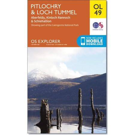EXP-386  Pitlochry + Loch Tummel | wandelkaart 1:25.000 9780319242889  Ordnance Survey Explorer Maps 1:25t.  Wandelkaarten de Schotse Hooglanden (ten noorden van Glasgow / Edinburgh)