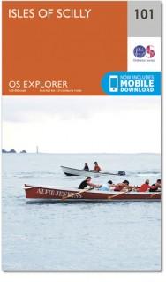 EXP-101  Isles of Scilly | wandelkaart 1:25.000 9780319243039  Ordnance Survey Explorer Maps 1:25t.  Wandelkaarten Zuidwest-Engeland, Cornwall, Devon, Somerset, Dorset