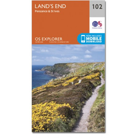 EXP-102  Land's End | wandelkaart 1:25.000 9780319243046  Ordnance Survey Explorer Maps 1:25t.  Wandelkaarten Cornwall, Devon, Somerset, Dorset