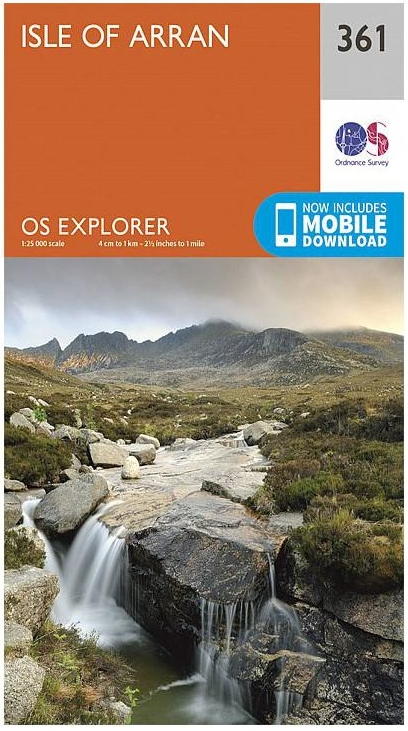EXP-361 Isle of Arran 1:25.000 | wandelkaart 1:25.000 9780319246122  Ordnance Survey Explorer Maps 1:25t.  Wandelkaarten Skye & the Western Isles