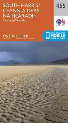 EXP-455  South Harris/ Ceann A Deas Na Hea   wandelkaart 1:25.000 9780319246986  Ordnance Survey Explorer Maps 1:25t.  Wandelkaarten Skye & the Western Isles