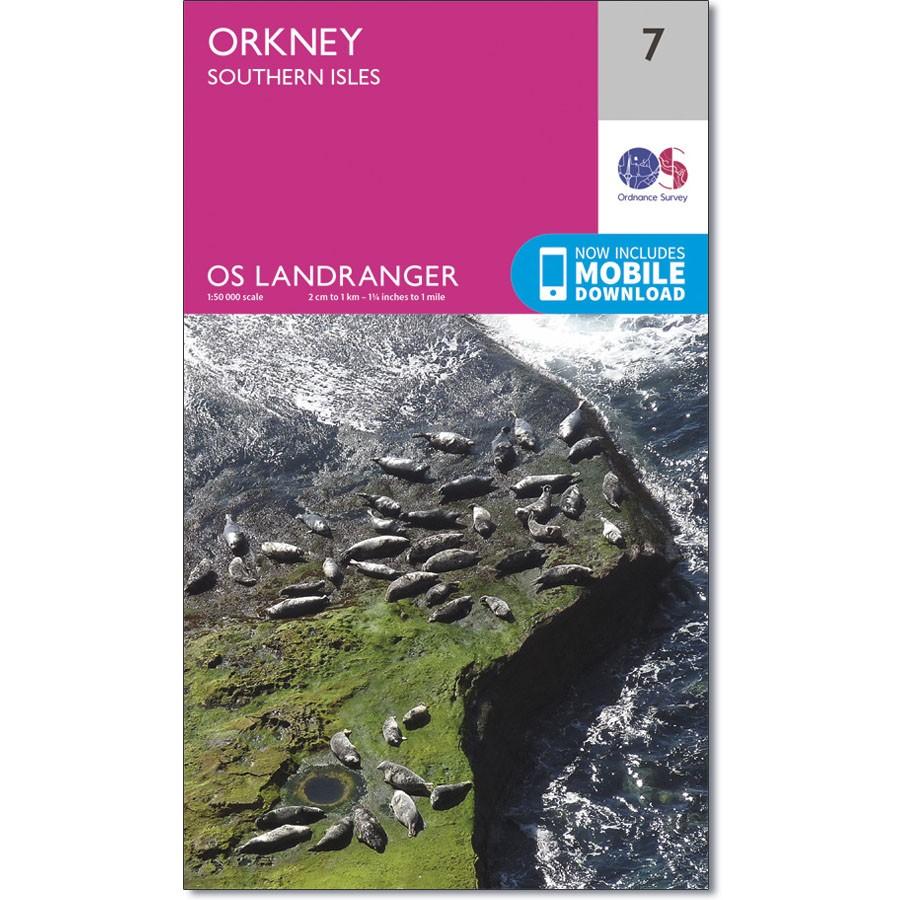 LR-007  Orkney - Southern Isles | topografische wandelkaart 9780319261057  Ordnance Survey Landranger Maps 1:50.000  Wandelkaarten Shetland & Orkney