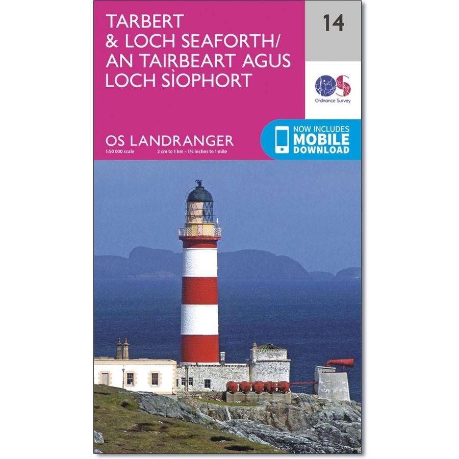 LR-014  Tarbert + Loch Seaforth | topografische wandelkaart 9780319261125  Ordnance Survey Landranger Maps 1:50.000  Wandelkaarten Skye & the Western Isles