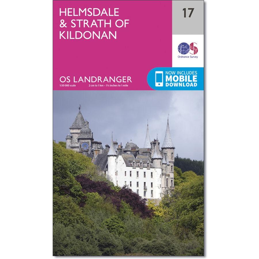 LR-017  Helmsdale + Strath of Kildonan | topografische wandelkaart 9780319261156  Ordnance Survey Landranger Maps 1:50.000  Wandelkaarten de Schotse Hooglanden (ten noorden van Glasgow / Edinburgh)