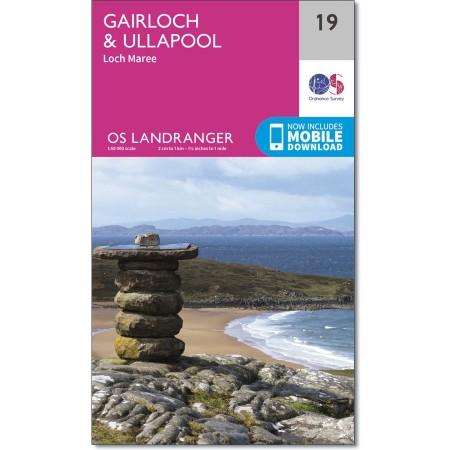LR-019  Gariloch + Ullapool Area, Loch Maree | topografische wandelkaart 9780319261170  Ordnance Survey Landranger Maps 1:50.000  Wandelkaarten de Schotse Hooglanden (ten noorden van Glasgow / Edinburgh)