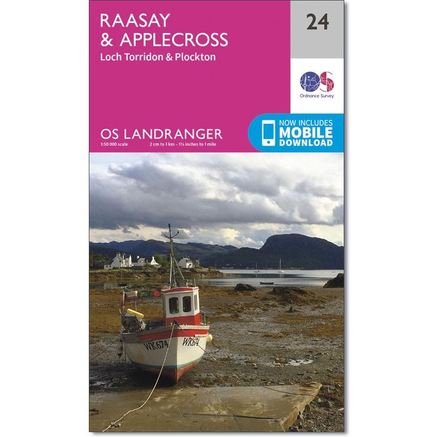 LR-024  Raasay, Applecross, Loch Torridon,Plockto | topografische wandelkaart 9780319261224  Ordnance Survey Landranger Maps 1:50.000  Wandelkaarten de Schotse Hooglanden (ten noorden van Glasgow / Edinburgh)