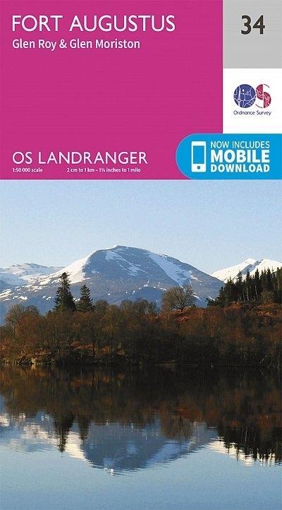 LR-034  Fort Augustus + Glen Albyn, Glen Roy | topografische wandelkaart 9780319261323  Ordnance Survey Landranger Maps 1:50.000  Wandelkaarten de Schotse Hooglanden (ten noorden van Glasgow / Edinburgh)