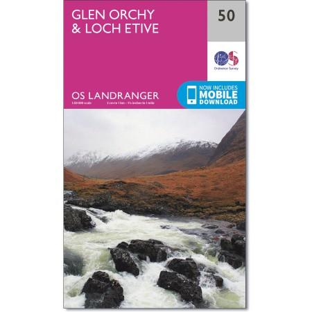 LR-050  Glen Orchy | topografische wandelkaart 9780319261484  Ordnance Survey Landranger Maps 1:50.000  Wandelkaarten de Schotse Hooglanden (ten noorden van Glasgow / Edinburgh)