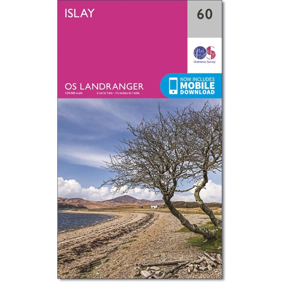 LR-060  Islay   topografische wandelkaart 9780319261583  Ordnance Survey Landranger Maps 1:50.000  Wandelkaarten Skye & the Western Isles