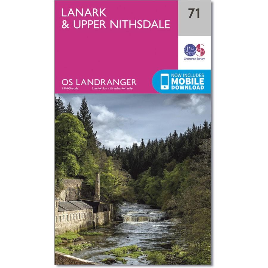 LR-071  Lanark + Upper Nithsdale   topografische wandelkaart 9780319261699  Ordnance Survey Landranger Maps 1:50.000  Wandelkaarten Zuid-Schotland