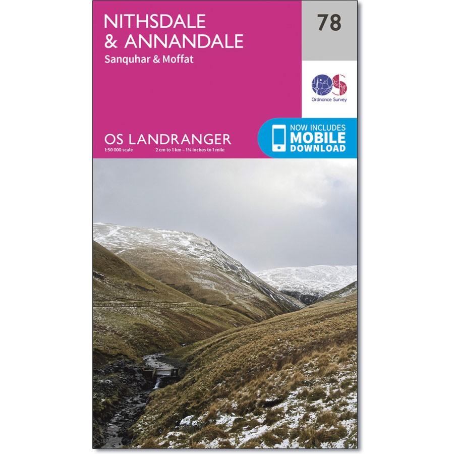 LR-078  Moffat   topografische wandelkaart 9780319261767  Ordnance Survey Landranger Maps 1:50.000  Wandelkaarten Zuid-Schotland
