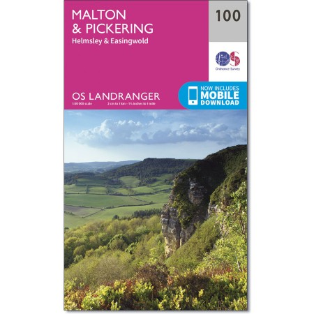 LR-100  Malton, Pickering, Helmsley + Easingwold | topografische wandelkaart 9780319261989  Ordnance Survey Landranger Maps 1:50.000  Wandelkaarten Northumberland, Yorkshire Dales & Moors, Peak District, Isle of Man