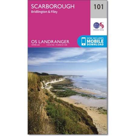 LR-101  Scarborough + Bridlington + Filey | topografische wandelkaart 9780319261996  Ordnance Survey Landranger Maps 1:50.000  Wandelkaarten Northumberland, Yorkshire Dales & Moors, Peak District, Isle of Man