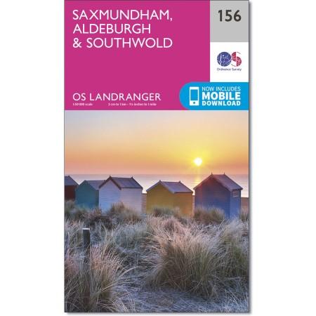 LR-156  Saxmundham, Aldeburgh | topografische wandelkaart 9780319262542  Ordnance Survey Landranger Maps 1:50.000  Wandelkaarten Lincolnshire, Norfolk, Suffolk, Cambridge