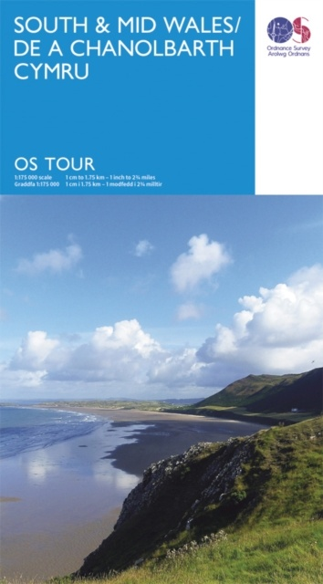 South & Mid Wales 1:175.000 (nr. 11) 9780319263211  Ordnance Survey Tour Maps  Landkaarten en wegenkaarten Wales