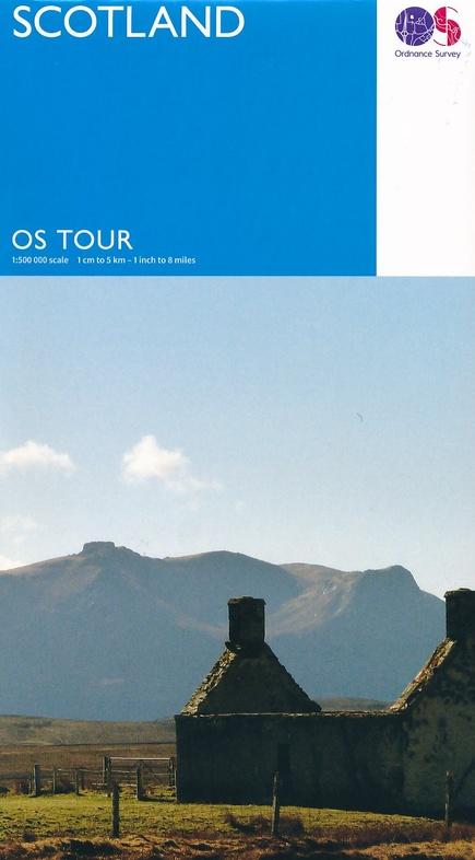 TMG-12  Scotland 1:500.000 9780319263228  Ordnance Survey Touring maps  Landkaarten en wegenkaarten Schotland