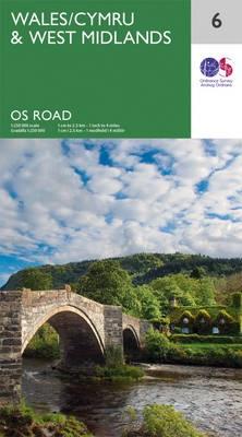 RM-6  Wales & West-Midlands, wegenkaart 9780319263488  Ordnance Survey Road Map 1:250.000  Landkaarten en wegenkaarten Wales
