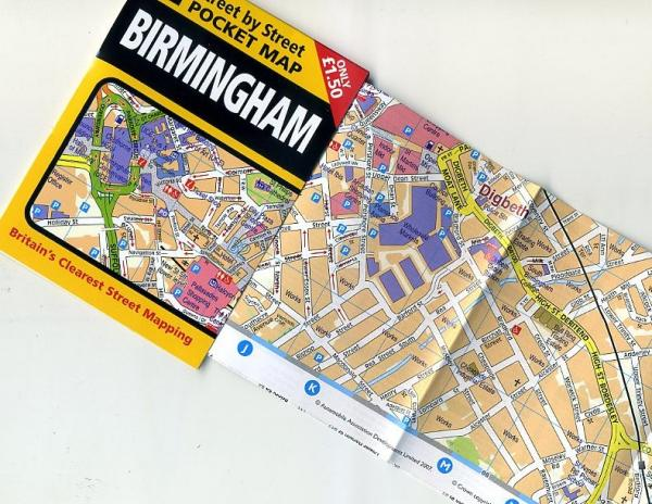 Birmingham pocket map 9780749555610  AA Street-by-street  Stadsplattegronden Midlands, Cotswolds, Oxford