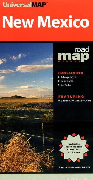 New Mexico State Map 9780762534173  Universal Maps   Landkaarten en wegenkaarten Colorado, Arizona, Utah, New Mexico