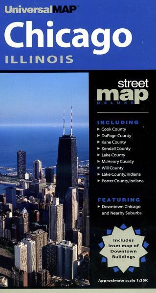 Chicago 9780762534647  Universal   Stadsplattegronden Grote Meren, Chicago, Centrale VS –Noord