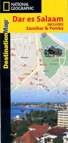 Dar es Salaam 1:11.500 9780792233213  National Geographic   Stadsplattegronden Tanzania, Zanzibar