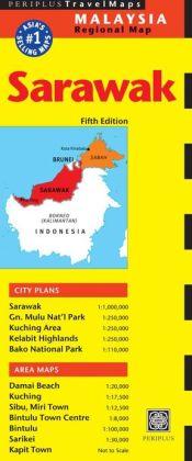 Sarawak/Kuching 9780794606237  Periplus Periplus Travel Maps  Landkaarten en wegenkaarten Maleisië en Brunei