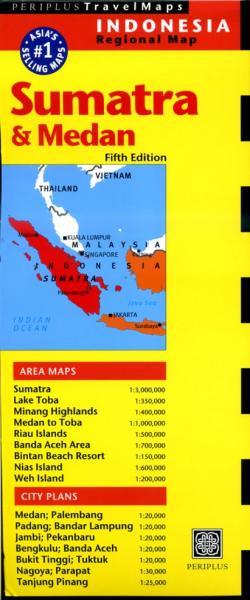 Sumatra North/Medan/Lake Toba 9780794607005  Periplus Periplus Travel Maps  Landkaarten en wegenkaarten Indonesië