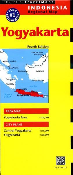 Yogyakarta/ Surakarta/ Java Central 9780794607234  Periplus Periplus Travel Maps  Landkaarten en wegenkaarten Indonesië