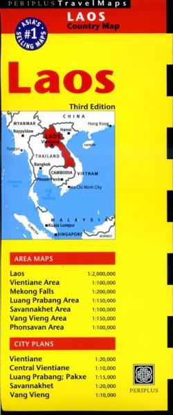 Laos 9780794607319  Periplus Periplus Travel Maps  Landkaarten en wegenkaarten Laos