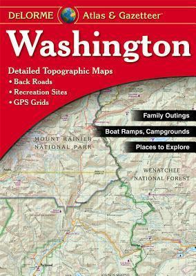 Washington Delorme Atlas & Gazetteer 9780899333298  Delorme Delorme Atlassen  Wegenatlassen Washington, Oregon, Idaho, Wyoming, Montana