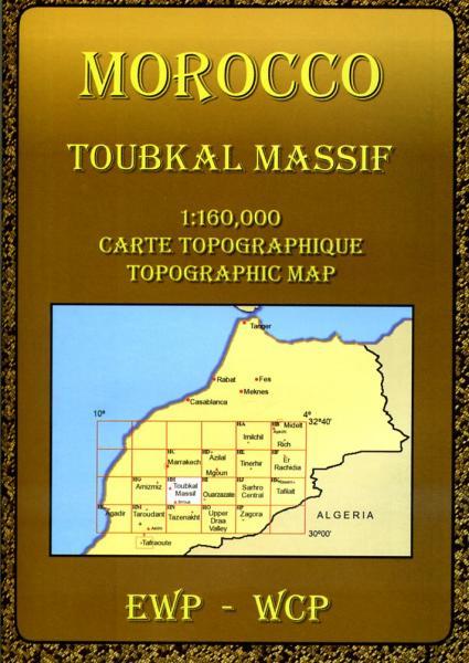 Jebel Toubkal Massif (HH) 9780906227985  EWP Morocco Maps 1:160.000  Landkaarten en wegenkaarten Marokko
