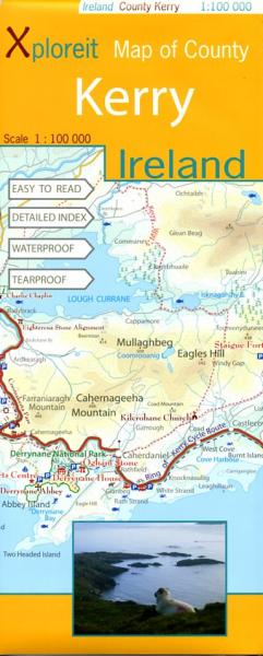 Kerry 1:100.000 9780955265518  Xploreit   Landkaarten en wegenkaarten Munster, Cork & Kerry