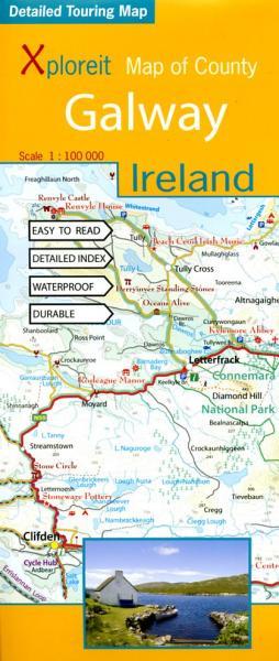Galway 1:100.000 9780955265532  Xploreit   Landkaarten en wegenkaarten Galway, Connemara, Donegal