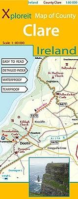 Clare 1:80.000 9780955265549  Xploreit   Landkaarten en wegenkaarten Munster, Cork & Kerry