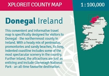 Donegal County Map 1:100.000 9780955265587  Xploreit   Landkaarten en wegenkaarten Galway, Connemara, Donegal