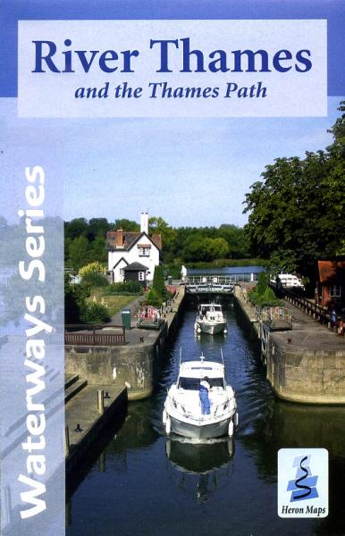 River Thames and the Thames Path map (with cycle routes) 9780956518330  Heron / Sustrans   Fietskaarten Midlands, Cotswolds, Oxford