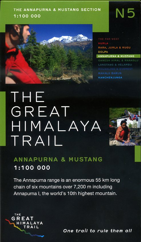 N05 Great Himalayan Trail: Annapurna & Mustang 9780956981745  Newgrove Consultants Great Himalayan Trail 1:100th.  Wandelkaarten Nepal