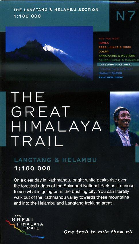 N07 Great Himalayan Trail: Langtang & Helambu 9780956981769  Newgrove Consultants Great Himalayan Trail 1:100th.  Wandelkaarten Nepal
